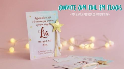DIY Convite de Aniversário Infantil - C/ Efeito Metalizado