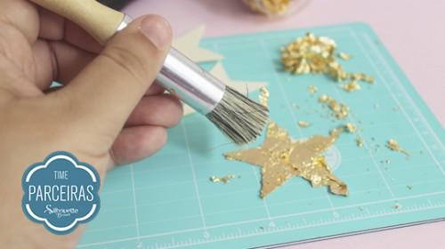 DIY Convite de Aniversário Infantil - C/ Efeito Metalizado - Foil na Estrela Sem Excessos