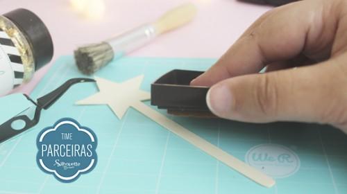 DIY Convite de Aniversário Infantil - C/ Efeito Metalizado - Carimbeira