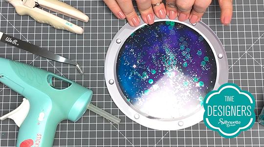 Como Fazer Topo de Bolo com Shaker na Silhouette - DIY - Glitter