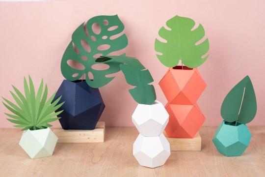 Vasos e Plantas Feitos com a Cameo 4