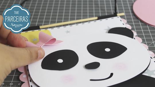 Aplicação do laço na panda fêmea