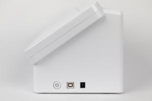 Silhouette Cameo 4: Botão Liga/Desliga e Entradas para Fonte de Energia Silhouette e Cabo USB