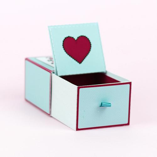 Bodas de 1 Ano de Namoro - Como Fazer Caixa Personalizada - Gaveta Aberta