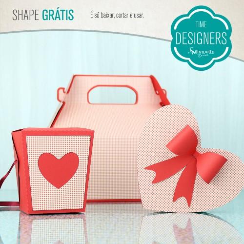 Aniversário Silhouette Brasil - PAP's, DIY e Shapes Grátis - Arquivo Grátis Caixas Dia dos Namorados
