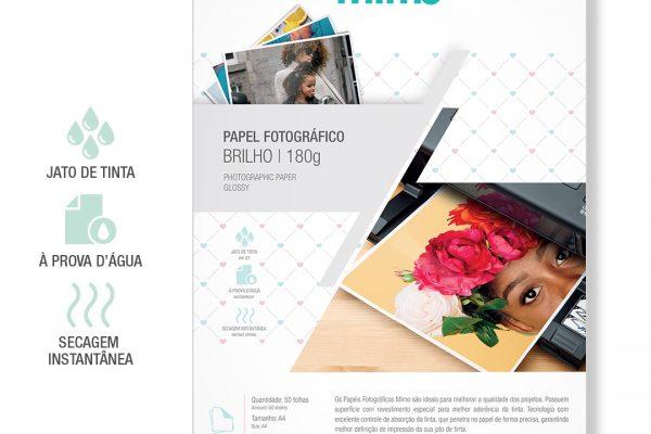 Papel Fotografico a Prova de Agua Mimo - Alto Brilho A4 50fls 180gr