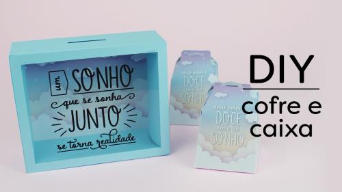 Aniversário Silhouette Brasil - PAP's, DIY e Shapes Grátis - Arquivo Grátis Quadro Cofre Personalizado