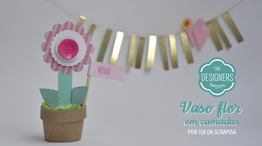 DIY Como Fazer Vaso de Flor Para Festas em Camadas de Papel