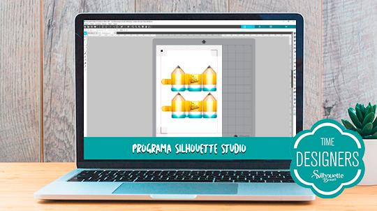 Arquivo do porta post-it no Silhouette Studio