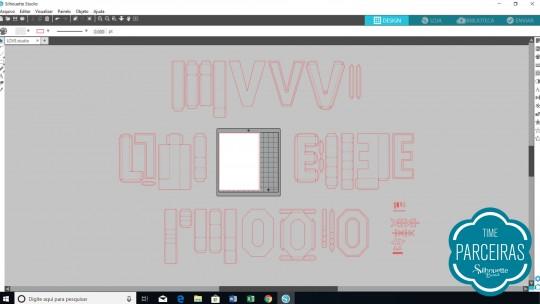 Arquivos abertos no Silhouette Studio