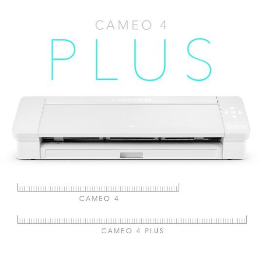 Cameo 4 Plus tem área corte maior relação Cameo 4 Cameo 3