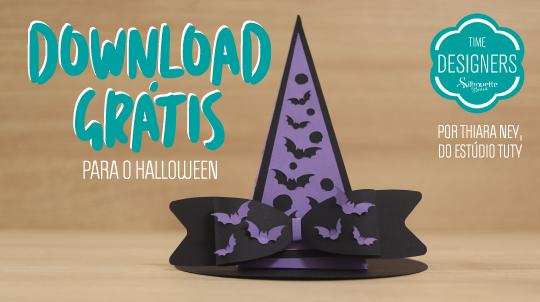 Como Fazer Decoração de Halloween na Silhouette - DIY Molde Grátis
