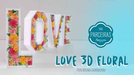 Como Fazer Letras 3D na Silhouette - DIY Floral com Molde Grátis