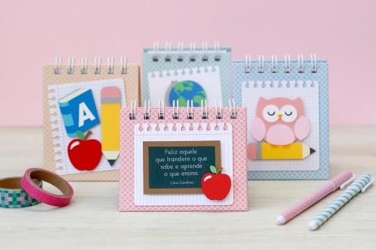 Bloquinhos personalizados de presente para professora prontos e lindos!