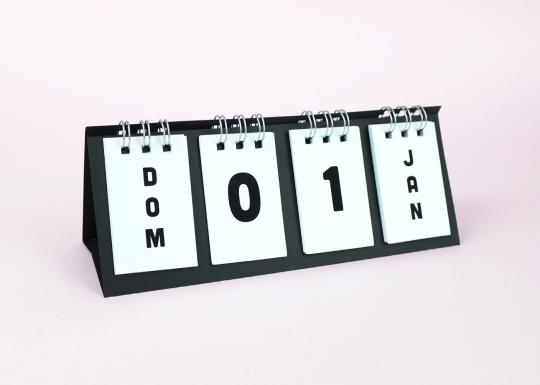 Calendário permanente encadernado