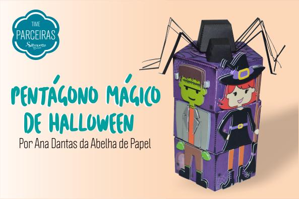 Como Fazer Caixa Pentágono de Doces para Halloween - DIY com Molde Grátis