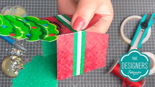 Colagem das caixas de Natal