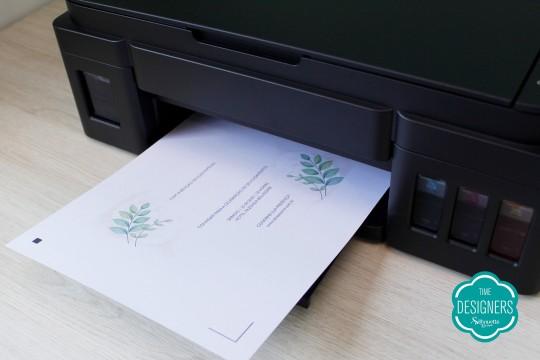 Imprimindo o convite