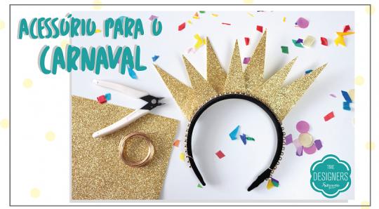 Tiaras para Carnaval em EVA - Arquinho de Cabeça de Raio de Sol
