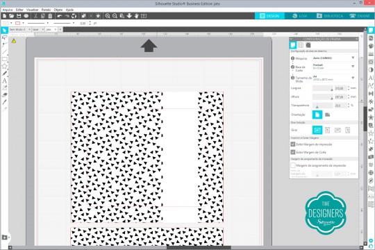 Arquivo com camada da impressão a jato de tinta