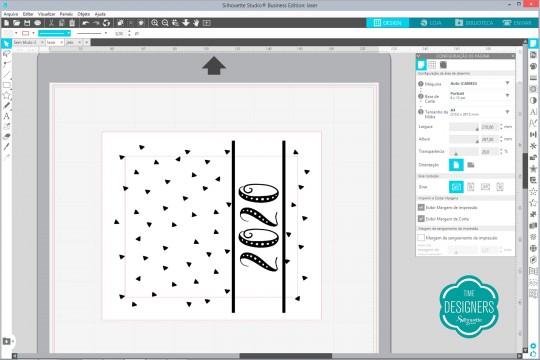 Arquivo com camada da impressão a laser