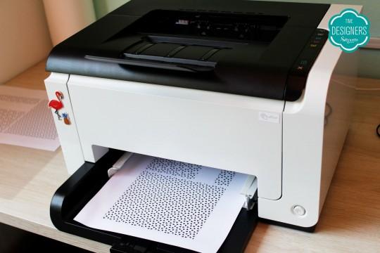 Imprimindo camada a laser