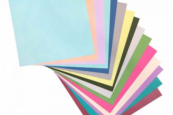Kit Papel Cardstock Sortido - American Crafts - 30 x 30 - 100 unidades