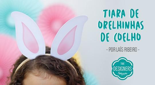 Tiara de Páscoa - DIY Orelhas de Coelho com Molde Grátis Silhouette