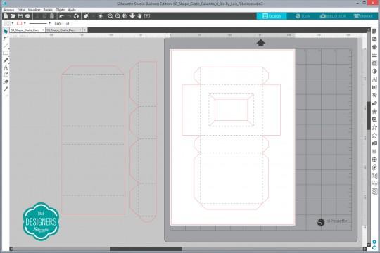 Abra o arquivo da caixa no Silhouette Studio
