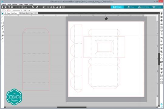 Coloque as partes da base da caixa na sua página