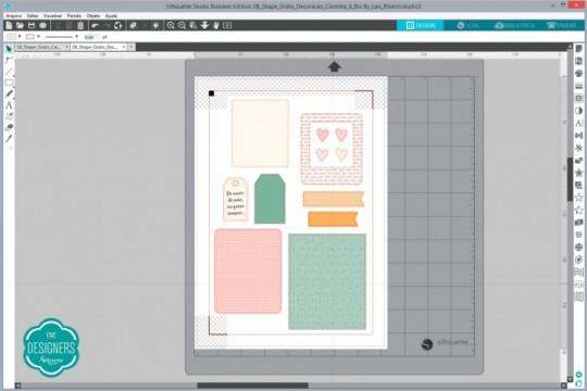 Abra o arquivo da decoração no Silhouette Studio