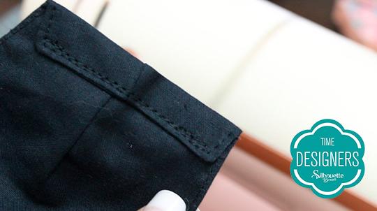 Costure dobras laterais colocar elástico