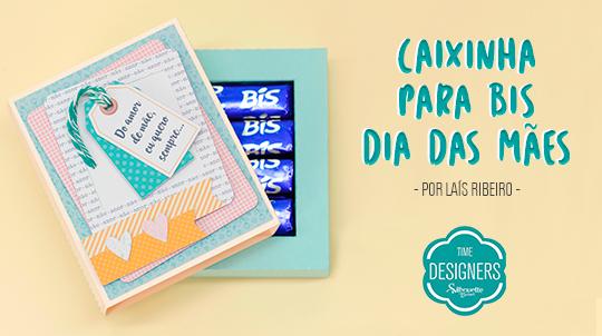 Caixa Bis de Dia das Mães - Como Fazer com Molde Grátis Silhouette