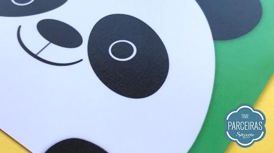 Efeito semi-brilho olho panda