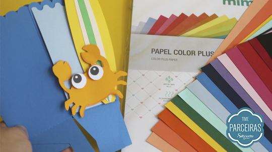 Diversas cores papéis Color Plus Mimo caixa personalizada feita com eles