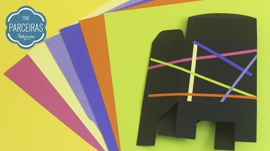 Papeis Color Fluor Mimo caixa personalizada eles