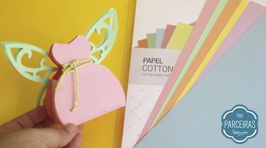 Papel cotton candy mimo caixinha feita ele