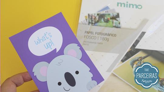 Papel Fotográfico Fosco Mimo cartão personalizado feito com ele