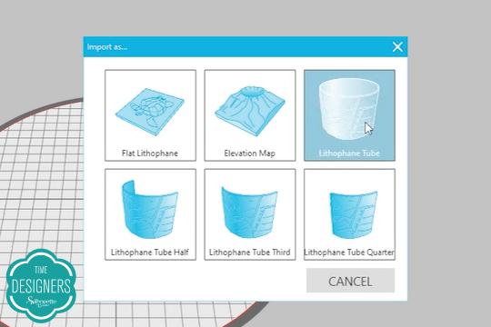 Escolha terceira opção extrusão software Silhouette 3D