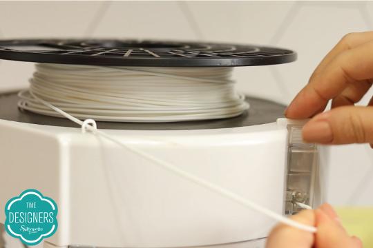 Coloque filamento impressora 3D SIlhouette Alta