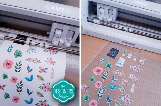 Corte detalhes projeto print and cut Silhouette