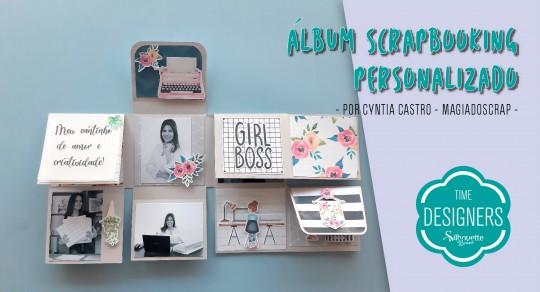 Álbum Scrapbook Personalizado – Como Fazer com Molde Grátis