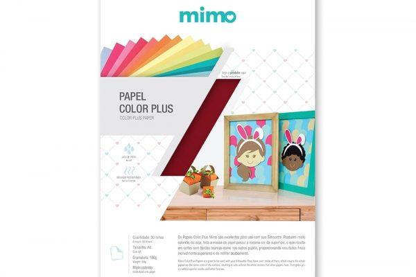 Papel Color Plus Vermelho Pequim 180 g - Mimo - A4 - 30 Folhas