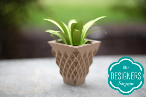 Vaso planta impresso Silhouette Alta