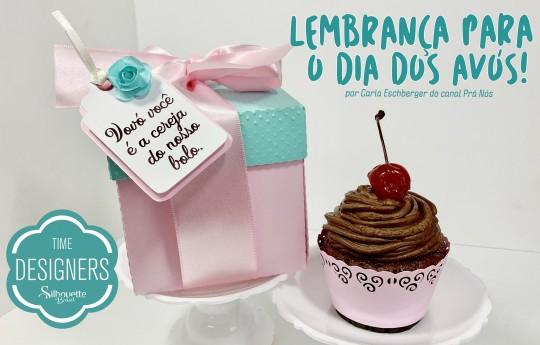 Lembrancinha Dia dos Avós – Como Fazer Caixa para Cupcake na Silhouette