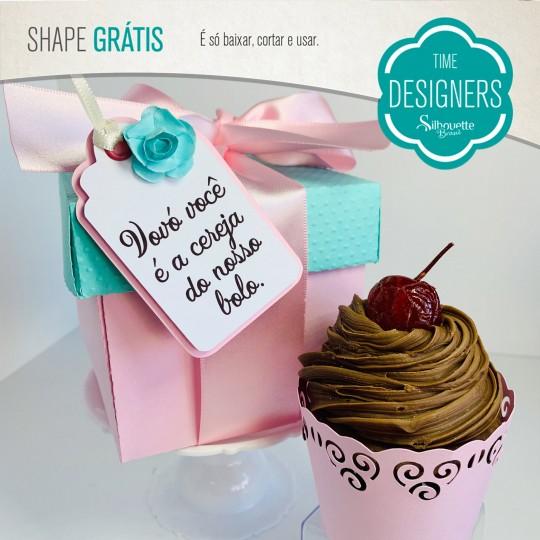 Caixa cupcake Dia Avós Pronta