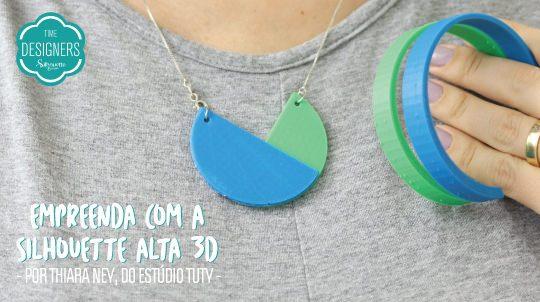 Como Fazer Bijuterias – DIY Impressão 3D na Silhouette Alta
