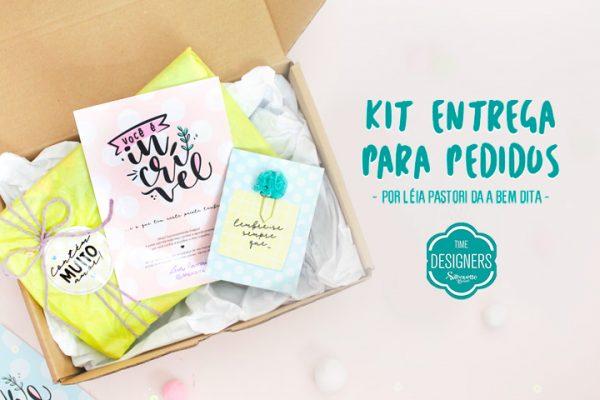 Kit Entrega para Pedidos – DIY Fácil com Molde Grátis