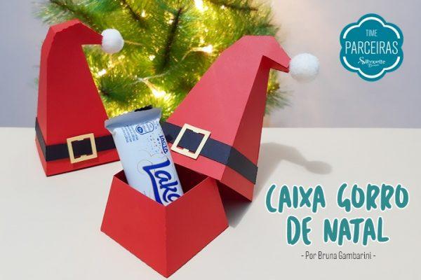 Caixa de Natal – Gorro Papai Noel – DIY e Molde Grátis