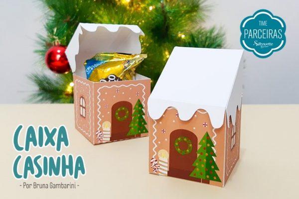 Caixa Casinha de Natal – DIY com Molde Grátis